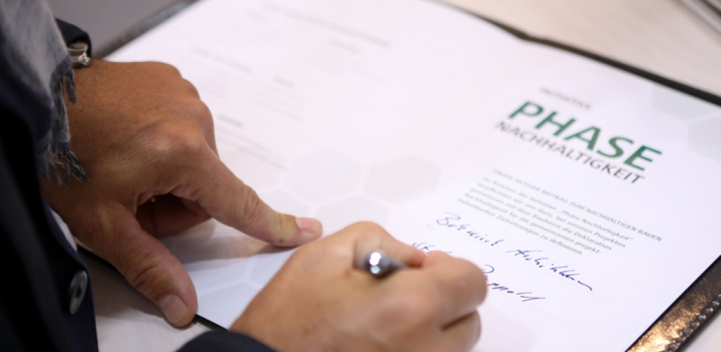 unterzeichnet: wir machen mit bei der phase nachhaltigkeit der dgnb